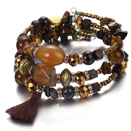 "Narukvica  ""Stone"", brown"