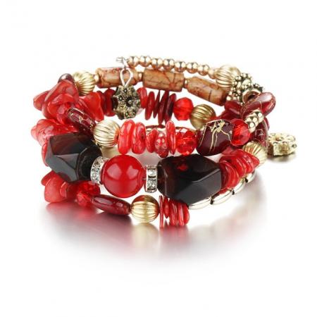 """Narukvica  """"Stone"""", red"""