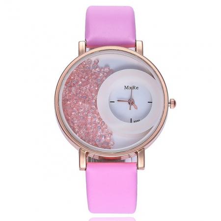 """Sat """"crystal"""", pink"""
