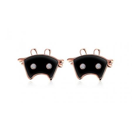 "Naušnice ""Meow"", black"